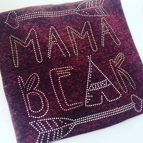 Rhinestone mamma bear for Sarah adults T shirt