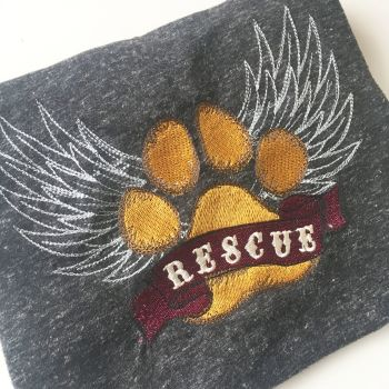 Rescue dog fundraising ADULT T shirt