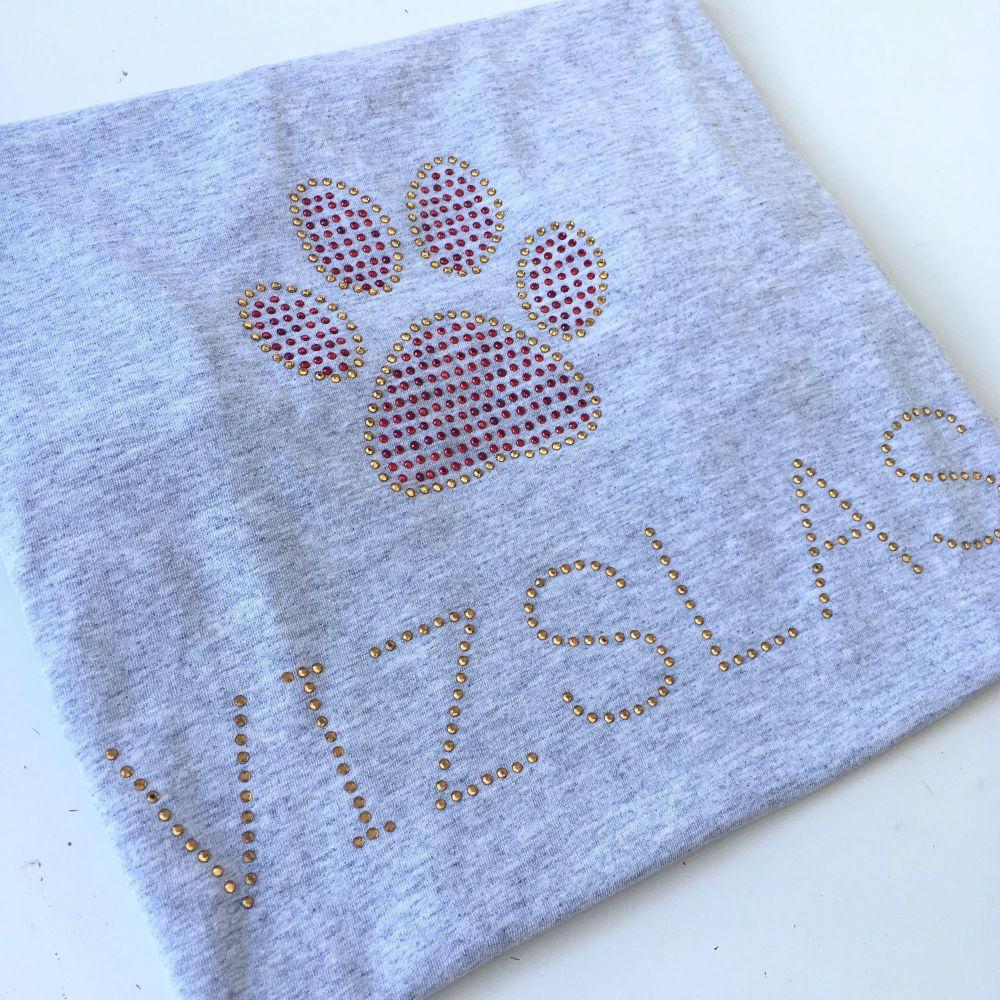 Rhinestone Vizsla Rescue dog fundraising ADULT T shirt