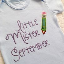 Little Mr September baby onesie vest