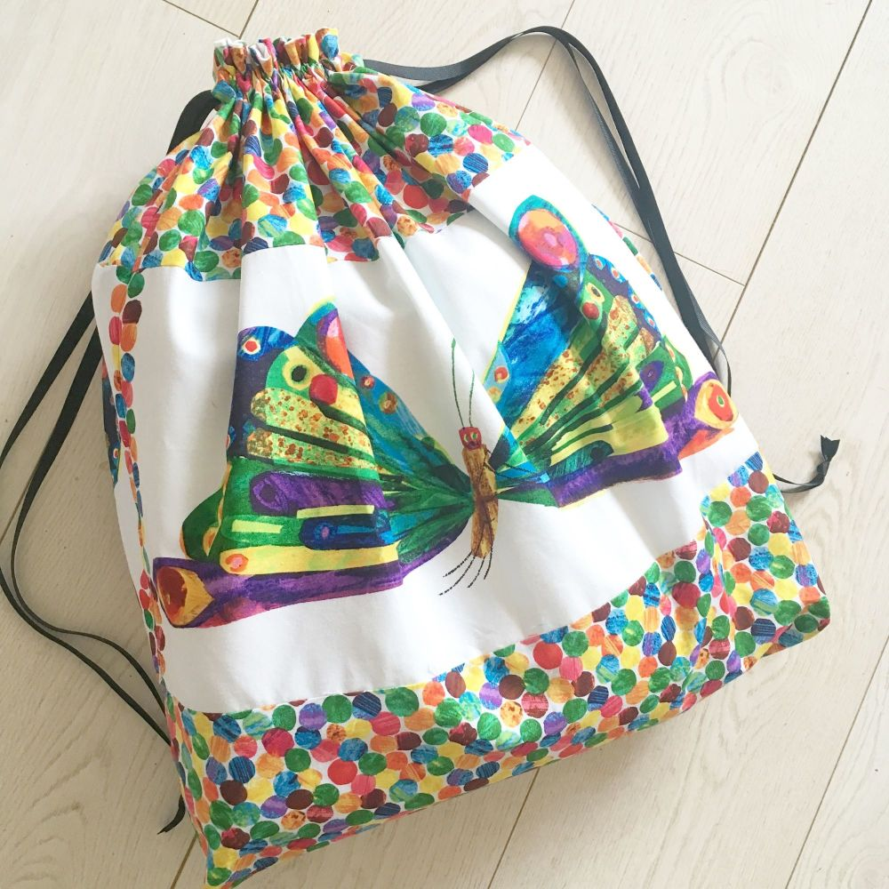 The Very Hungry Caterpillar butterfly toy/laundry/book bag/story sack