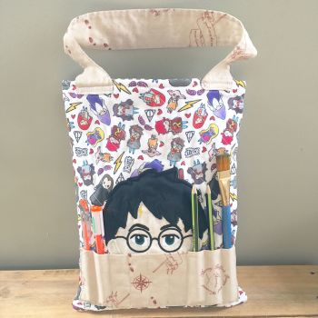 Magical wizarding colouring tote bag