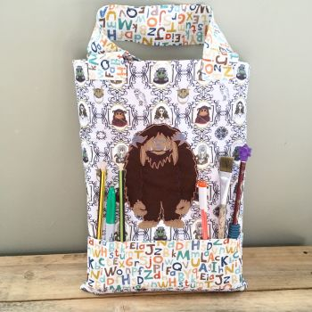 Labyrinth Ludo colouring tote bag