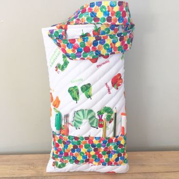 The very hungry caterpillar colouring book tote bag book bag