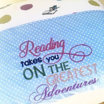 Matilda Roald Dahl reading pillow cushion by Jellibabies.co.uk 2