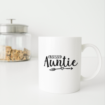 Obsessed Auntie personalised mug