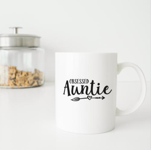 Obsessed Auntie personalised mug