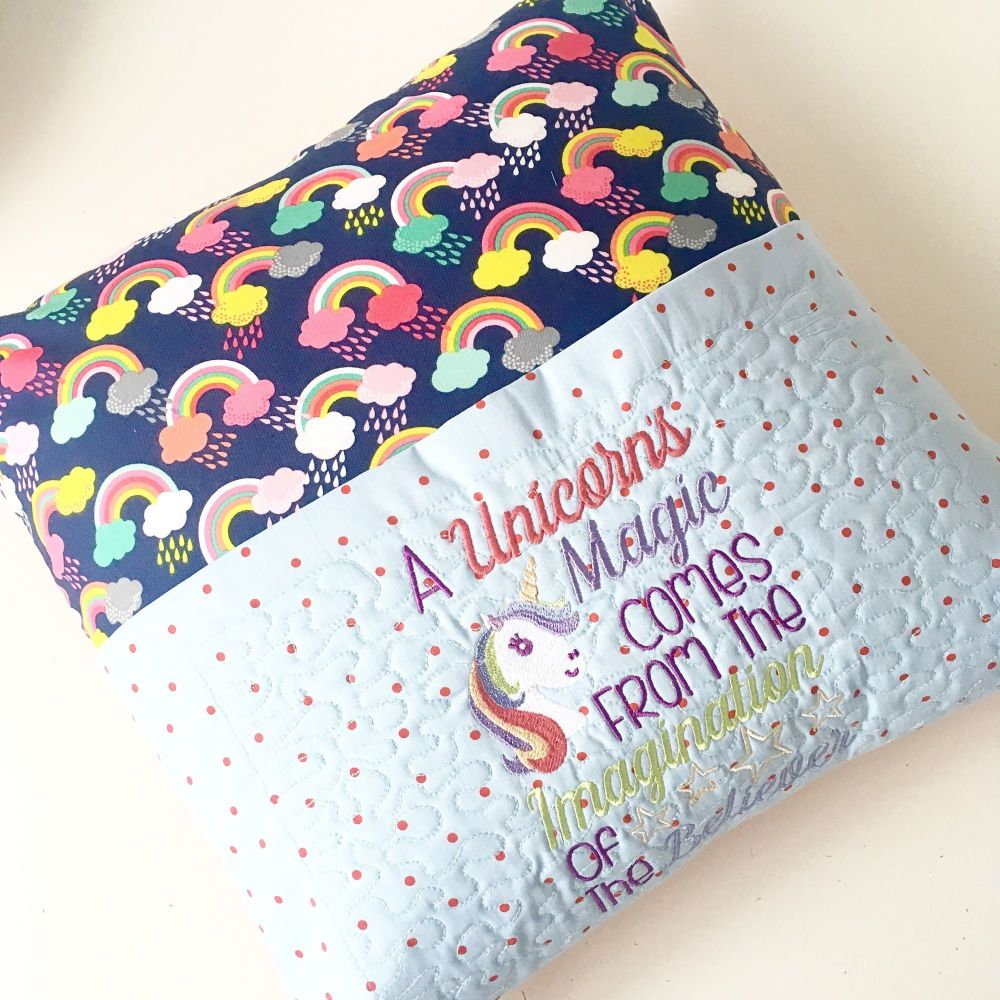 Unicorn reading pillow cushion