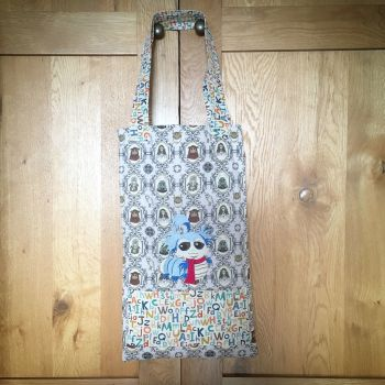 Labyrinth worm colouring tote bag