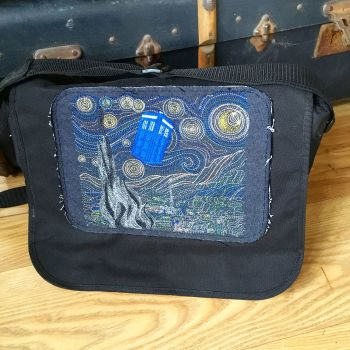 Doctor Who Starry Night messenger bag