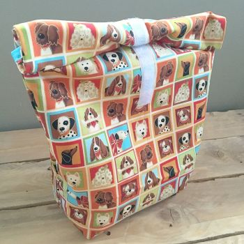 For the love of dogs eco lunch bag