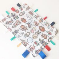 Labyrinth worm baby taggy blanket