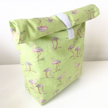 Flamingo eco lunch bag