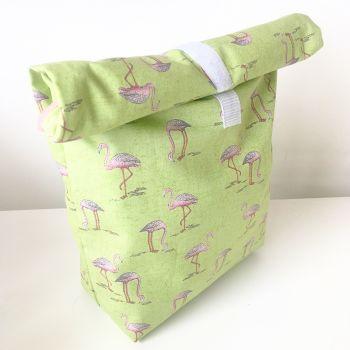 Flamingo eco lunch bag