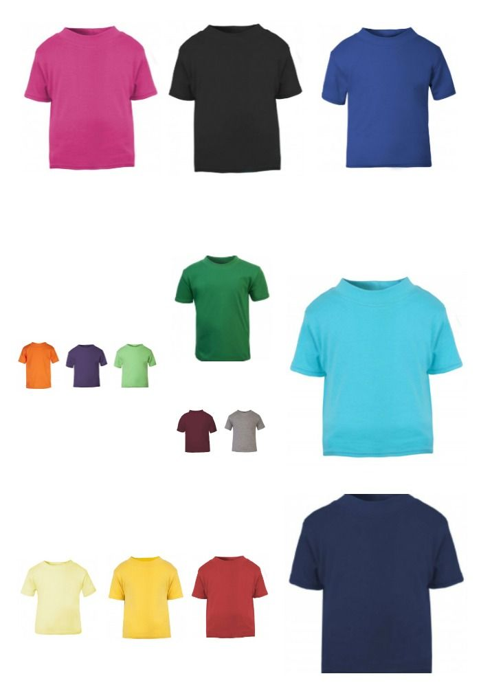 T shirt colour Collage