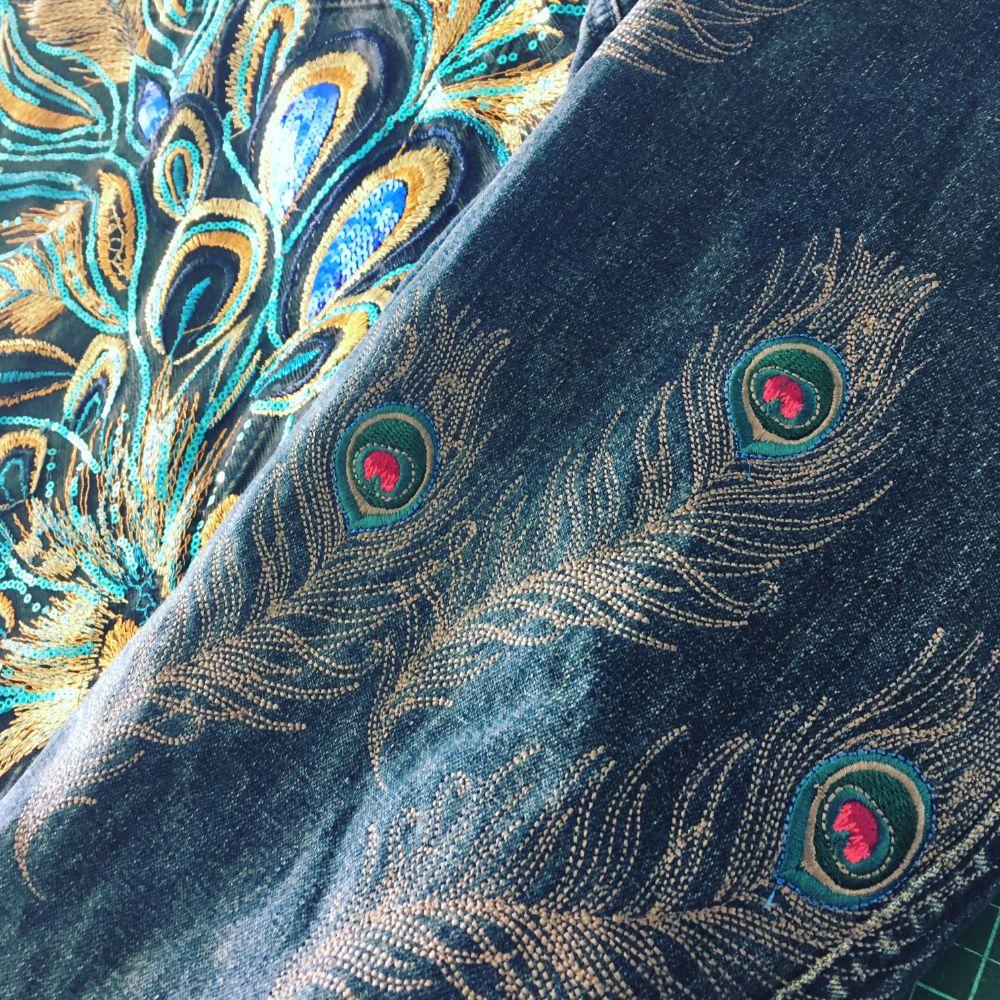 Embroidered denim jackets