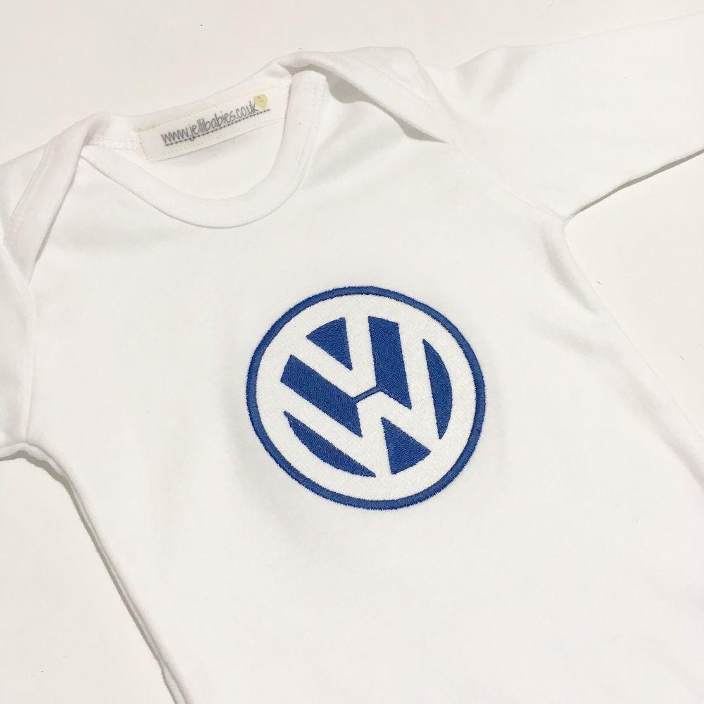 Car logo VW  baby grow sleepsuit