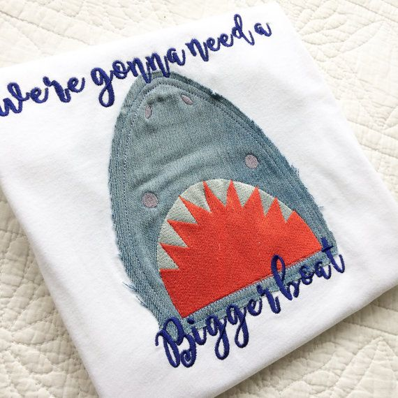 We're gonna need a bigger boat Jaws inspired baby onesie vest
