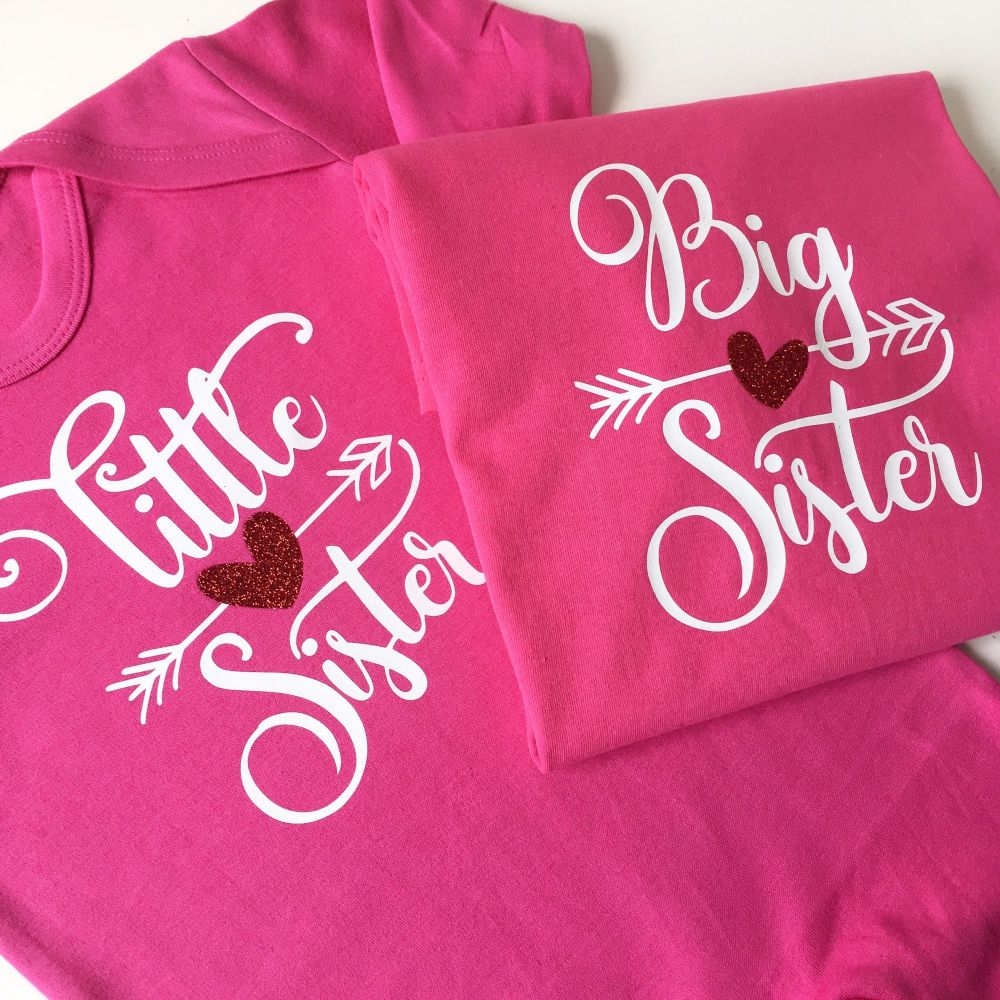 Big sis little sis T shirt set