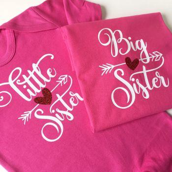 Big sis little sis T shirt set