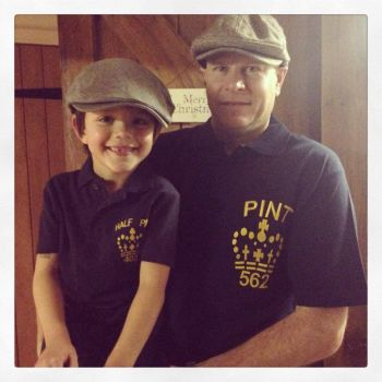 Half Pint Pint fathers day polo shirt
