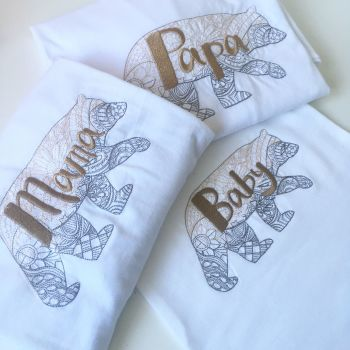 Baby Bear Mama Bear & Papa bear new baby gift set