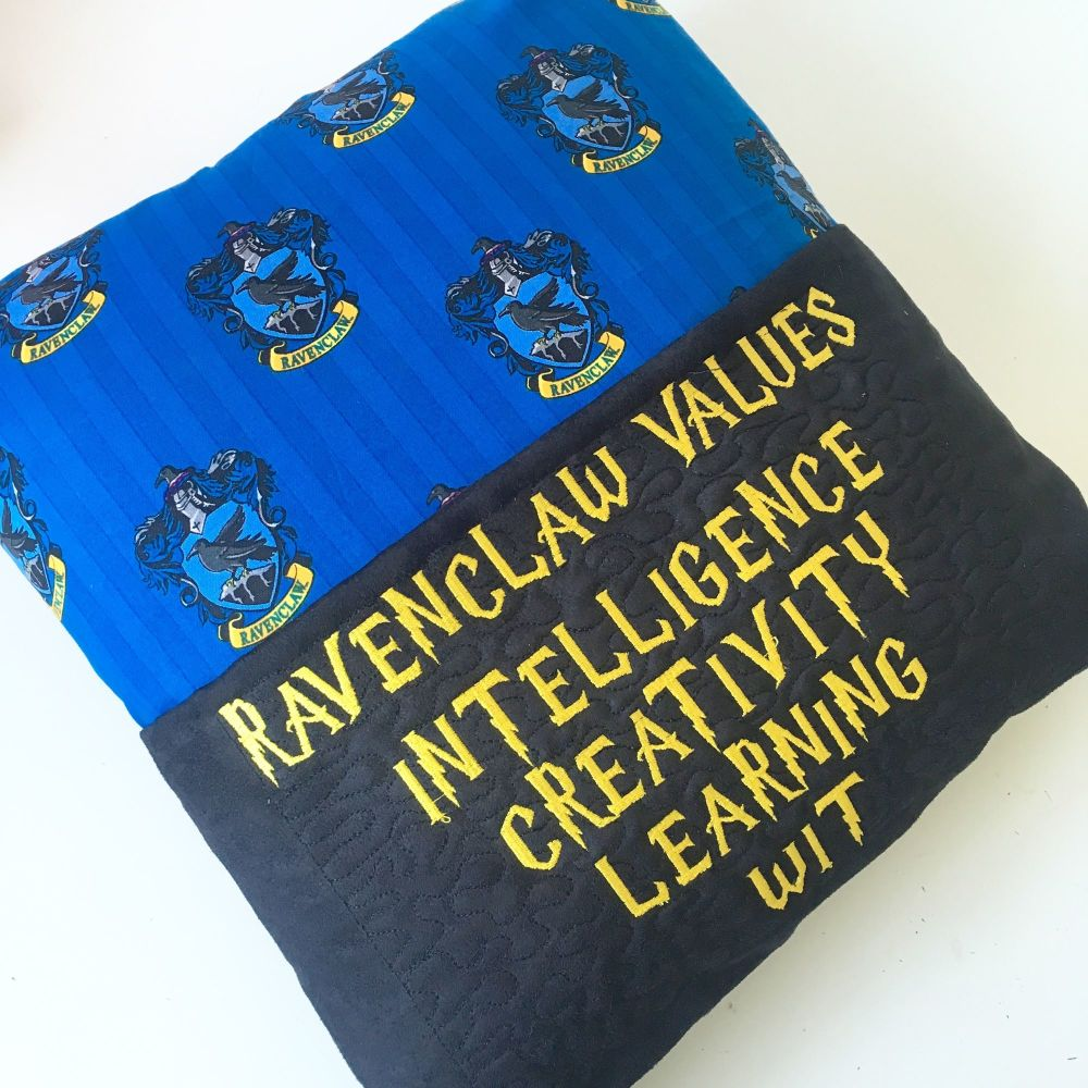 Magical blue reading pillow cushion