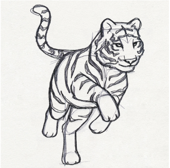 Personalised Tiger Rose fleece snuggle blanket