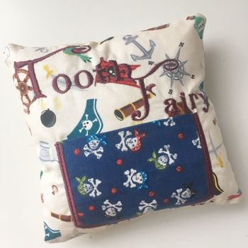 personalised pirate nautical tooth fairy pillows