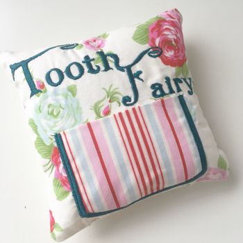 personalised vintage rose tooth fairy pillows