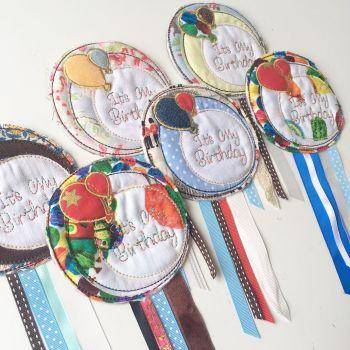 Handmade 'Its my birthday' rosette badge