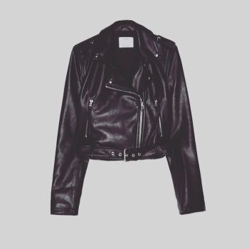 Personalised faux leather wedding jacket by sewincarnation at Jellibabies 4
