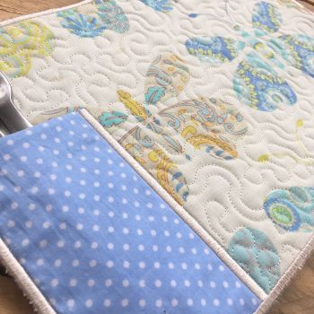 Reversable personalised eco friendly placemats handmade by Jellibabies.co.u