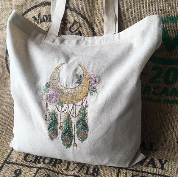 Dreamcatcher eco reusable tote shopping bag