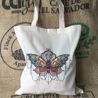 Moth design eco reusable tote shopping bag