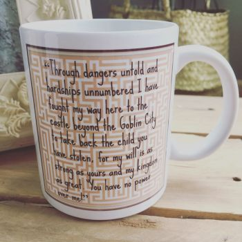 Through dangers untold Labyrinth inspired  mug