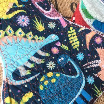 Dinosaur embroidered Baby burp cloth shoulder cloth