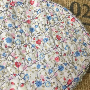Vintage rose embroidered Baby burp cloth shoulder cloth