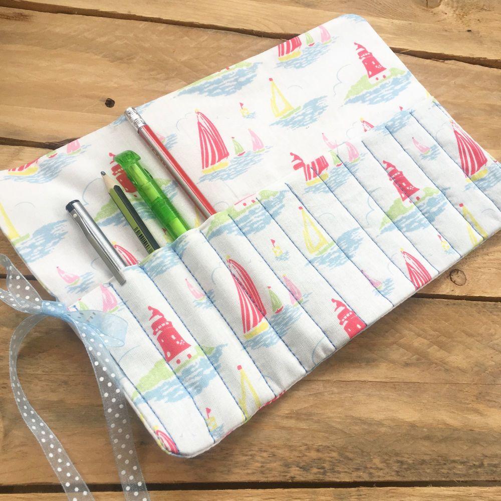 Cath Kidston boats fabric pencil roll