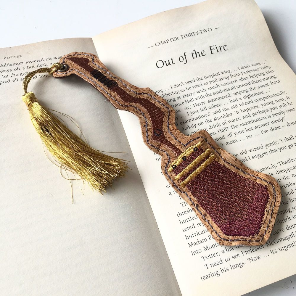 Magical wizard Broomstick Bookmark