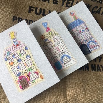 handmade new home applique gift card by Sewincarnation at Jellibabies.co.uk