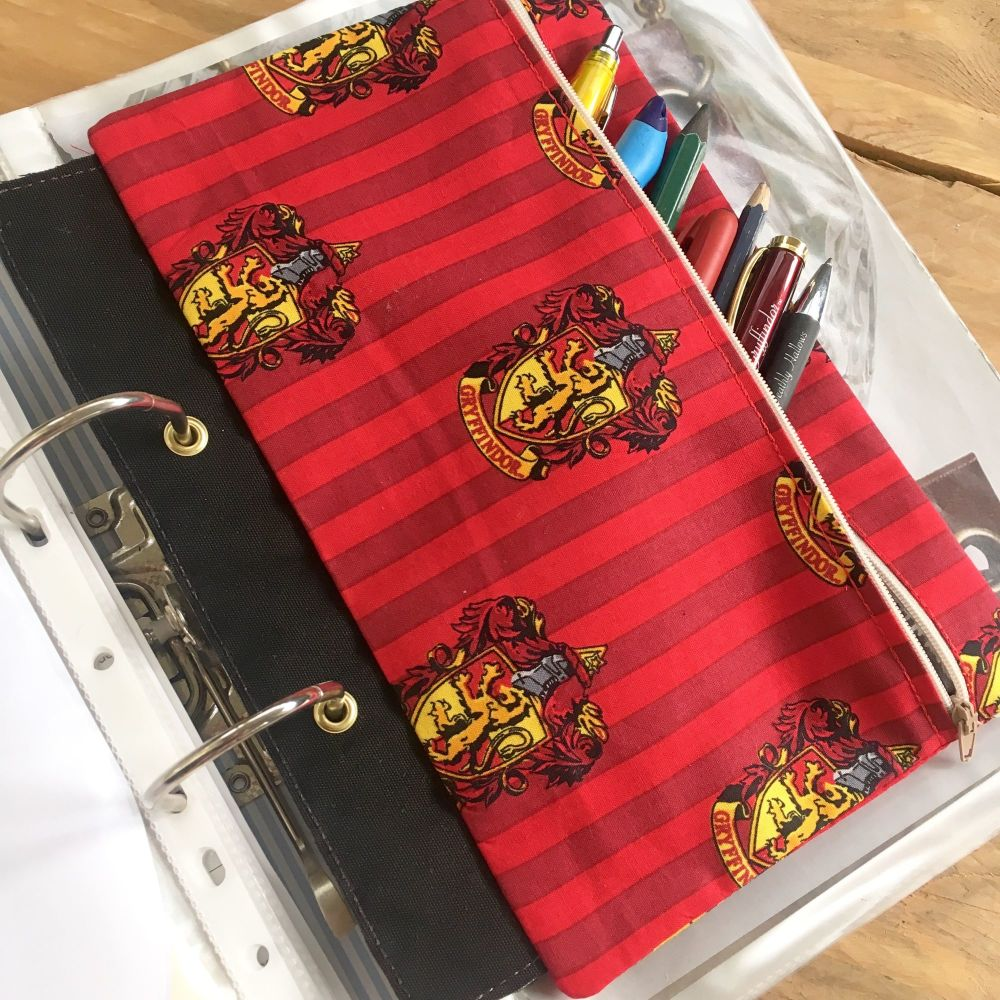 Wizarding ring binder pencil case