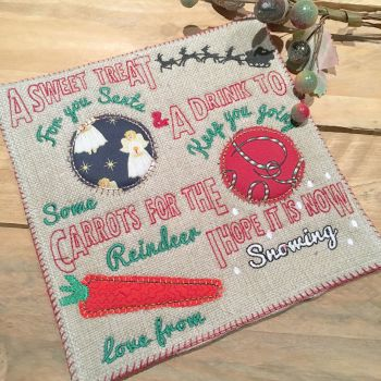 Christmas Personalised Father Christmas drink and snack mat