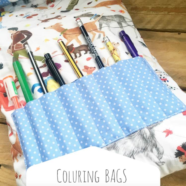 Colouring tote bags