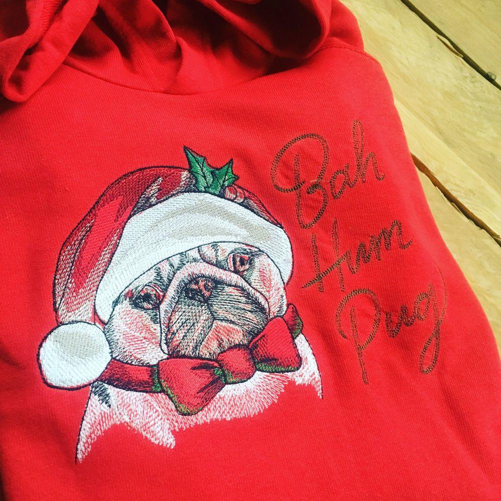 Bah humpug  childrens christmas hoodie