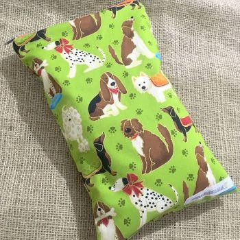 Dog fabric print baby wet bag