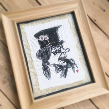 Child Catcher ready to frame embroidered  wall art