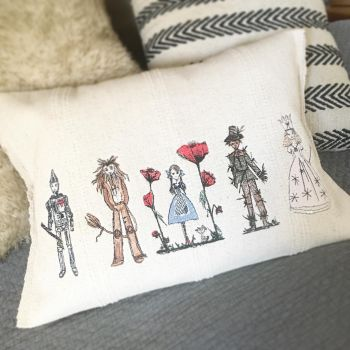 Embroidered Wizard of oz cushion