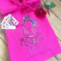 Embroidered Alice in wonderland hoodie