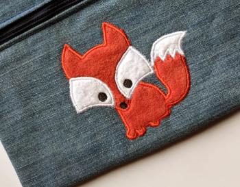 Birthday fox personalised embroidered children's T shirt
